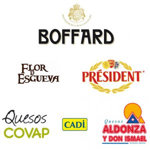 DISTRIBUCION DE QUESOS BOFFARD COVAP CADI ALDONZA PRESIDENT FLOR D ESGUEVA CEREZO