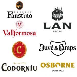 Distribucion de vino y cava BODEGAS FAUSTINO VALLFORMOSA CODORNIU BODEGAS LAN JUVE CAMPS OSBORNE CEREZO